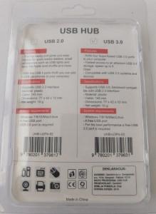 USB HUB, 4 porta, Gembird UHB-U3P4-03 ** USB 3.0, storage speed 5Gbps, black