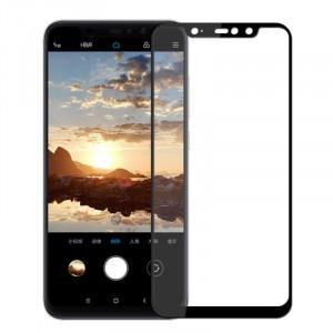 """Zaštitno staklo, Glass 5D FULL GLUE za Xiaomi Redmi Note 6 Pro 2018 (6.26"""") , ZAKRIVLJENO crni rubovi"""
