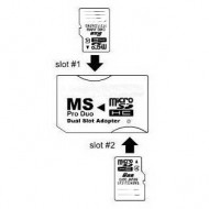 Adapter micro SD na Memory Stick Pro Duo - DUAL