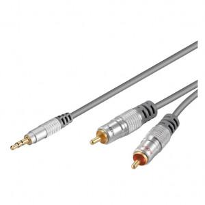 Audio Kabl HIFI RJA 3.5mm (muški) na 2 x RCA (muški) HT90-500 - dužina 5m