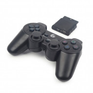 Bežični gamepad sa dvostrukom vibracijom, PS2, PS3, PC Gamepad, Joypad, Gembird JPD-WDV-01, crni