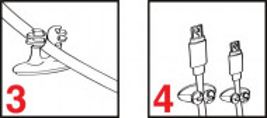 Gembird CM-CC-01 Samolepljive vođice za kablove, 8kom u pakovanju