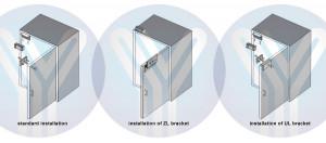 Mini elektromagnetna brava za jedna vrata sa silom držanja do 63kg YLI-70N-S, jedna vrata