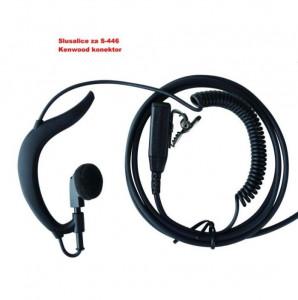 Slušalica s mikrofonom EP-1XK za voki toki Samcom CP-446S, Samcom CP-120, Samcom S-446, Kenwood 2PIN konektor