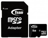 TeamGroup micro SDHC + SD adapter TUSDH8GCL1003, CLASS 10 8Gb