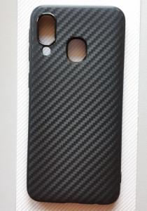 """TPU maska 0.3mm CARBON za Samsung SM-A405F Galaxy A40 2019 (5.9"""") crna"""