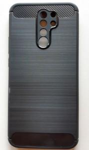 """TPU maska BRUSHED za Xiaomi Redmi 9 2020 (6.53"""") crna"""