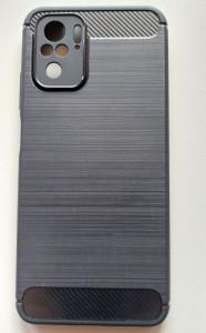 """TPU maska BRUSHED za Xiaomi Redmi Note 10 2021 (6.43"""") crna"""