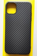 "TPU maska CARBON 0.3mm ultra tanka za iPhone 11 2019 (6.1"") crna"