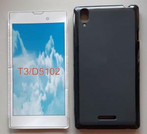 """TPU maska Pudding za Sony Xperia T3 2014 (5.3"""") crna ili bela"""