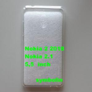 TPU maska ultra tanka 0,3mm za Nokia 2.1, Nokia 2 2018, providna