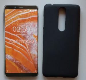 "TPU Pudding maska za Nokia 3.1 Plus 2018, Nokia X3 (6.0"") crna"