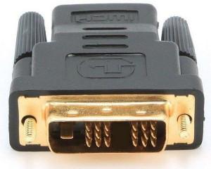 Adapter HDMI (ženski) na DVI-D single link 18+1 pin muški adapter, Gembird A-HDMI-DVI-2