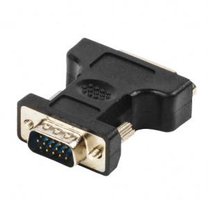 Adapter ženski DVI-I Dual Link 24+5 pin na muški VGA 15 pin, Nedis CMP-ADAP20