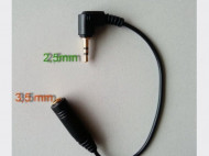 Audio adapter RJA 2,5mm muški na RJA 3,5mm ženski PT-01