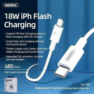 Kabl Type C na iPhone LIGHTNING, REMAX-RC-175I CHAINING SERIES 18W PD FAST-CHARGING DATA CABLE TYPE-C TO LIGHTNING (punjenje i prenos podataka)