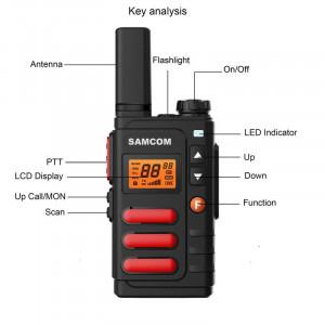 Samcom CP-446S (FT-18) Profesionalni voki toki, lična radio stanica - DOMET 10km