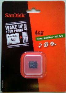 SanDisk MS micro M2 - 4 GB -