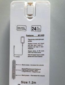 Slušalice s mikrofonom za telefone s konektorom Type-C VIP MY-025