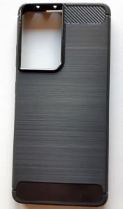"TPU maska BRUSHED za SAMSUNG SM-G998F, Galaxy S21 Ultra 2021 (6.8"") crna"