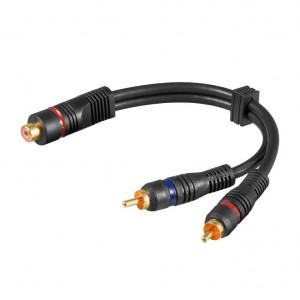 Audio kabl produžni RCA ženski na 2 x RCA muški A5-OFC/Y - dužina 20cm