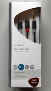 Audio Kabl HIFI RJA 3.5mm (muški) na 2 x RCA (muški) CABW22200AT50 - dužina 5m