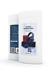 Mikrofiber krpice s alkoholom za čišćenje Gembird CK-AWW50-01 (50 kom u pakovanju)