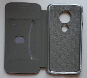 Preklopna futrola LEATHER za Motorola Moto E5, Moto G6 Play, crna, eko koža