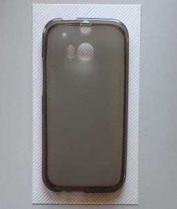 "TPU Pudding maska za HTC One M8 (5.0"") 2014, providno siva"