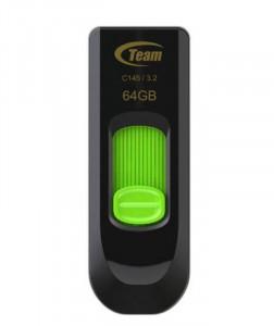 USB 3.2 Flash 64GB TeamGroup C145 TC145364GG01, green-black
