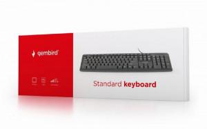 Žična USB tastatura Gembird KB-U-103 , 104 tastera, US raspored, crna