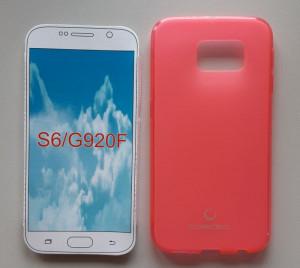 TPU maska Puding za Galaxy SM-G920F, GALAXY S6, providna pink