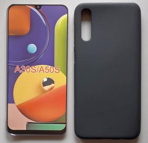 "TPU maska Pudding za Samsung Galaxy SM-A307F A30S 2019, SM-A507F A50S 2019, A50 2019 (6.4"") crna"