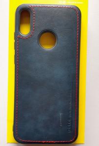 "TPU maska LEATHER za Huawei Y6 2019, Honor 8A , Y6 Prime (6.09"") plava"