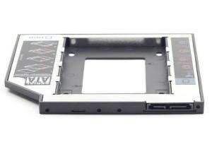 "Fioka za montazu 2.5"" SSD/SATA HDD (do12.7mm) u 5.25"" leziste u Laptop umesto optike, Gembird MF-95-02"