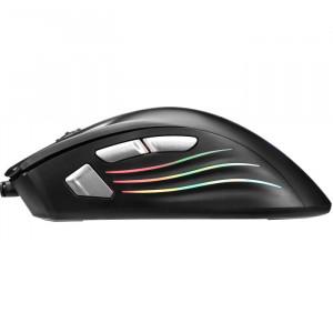 Gejmerski Miš USB Marvo G813 7D, 7200 DPI, sa RGB pozadinskim osvetljenjem sa pulsirajucim efektom crn