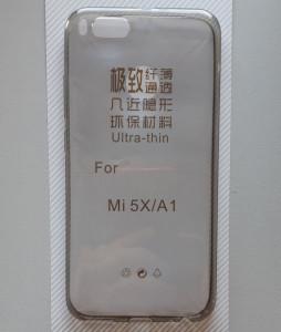 Maska 0,3MM za Xiaomi REDMI MI 5X, Xiaomi Mi A1 providna boje dima