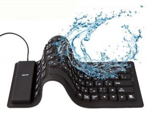 Tastatura gumena vodootporna Gembird KB-109F-B, USB, PS2, PS/2