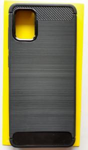 """TPU maska BRUSHED za Samsung SM-A315F, Galaxy A31 2020 (6.4"""") crna"""
