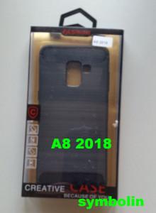 TPU maska BRUSHED za SM-A530F GALAXY A8 2018 crna