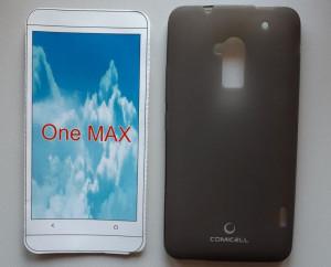 """TPU Pudding maska za HTC One Max (5.9"""") 2013, siva"""