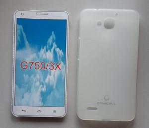 "TPU Pudding maska za Huawei Ascend G750, Honor 3X 2013 (5.5""), bela"
