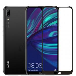 Zaštitno staklo za Huawei Y7 Prime, Y7 Pro 2019 Glass 5D FULL GLUE, ZAKRIVLJENO crni rubovi