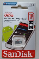 SanDisk Micro SD 80MB/s Ultra Class 10 - 16 Gb