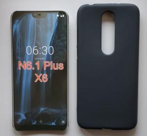 "TPU Pudding maska za Nokia 6.1plus 2018, Nokia X6 (5.8"") crna"