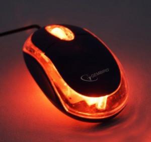 USB Opticki miš Gembird MUS-U-01-BKT, USB 1000Dpi black/transparent