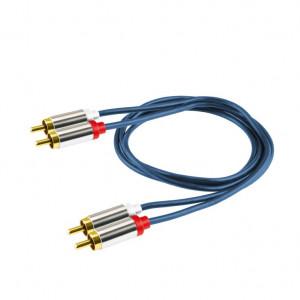 Audio kabl 2 x RCA na 2 x RCA  A3-1M - dužina 1 m