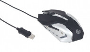 Gejmerski optički programibilni miš GEMBIRD MUSG-07, RGB 1200-3200DPI, black 132mm