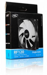 Hladnjak kućista 120x120x25mm, DeepCool RF120R, crveno ili belo LED osvetlenje