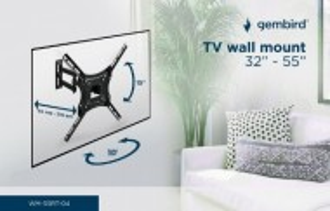 "Nosač TV zglobni Gembird WM-55RT-04 rotate/tilt 32-55"" VESA max.40x40cm, max 40kg"